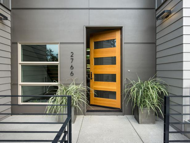 Entrance to Contemporary Home