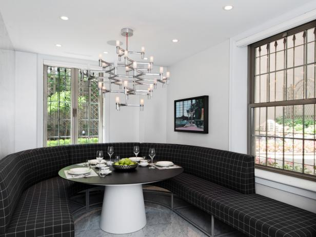 Custom Banquette Gives Modern Kitchen an Eat-In Component