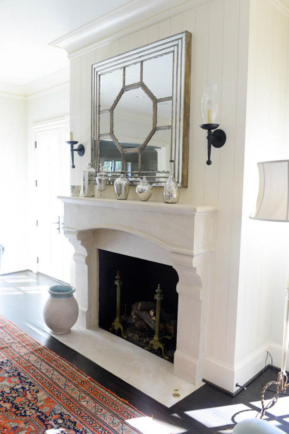cheap chic mantel ideas hgtv