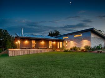 Different Exterior Materials Denote Different Sectors of Horizon House