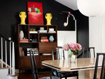 Stylish Dining Room in Black