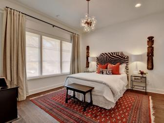 Guest Bedroom with Exotic Accessories