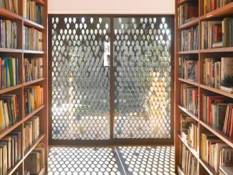 Library with Metal Cutout Sunshade