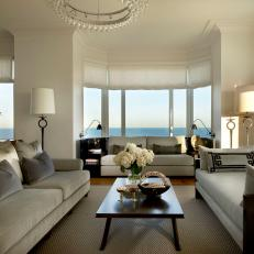 Living Room With Views of Lake Michigan