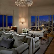 Sophisticated Living Room With City View