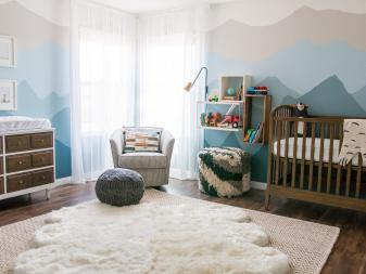 Alaskan Inspired Blue Ombré Mountain Nursery