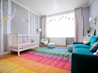 Tons of Seating in Little Girl's Nursery