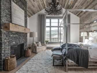 Rustic Meets Contemporary Master Bedroom