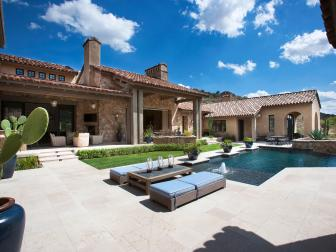 Backyard With Patios and Swimming Pool