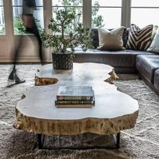 Awesome Rustic Tree Trunk Coffee Table Part 2