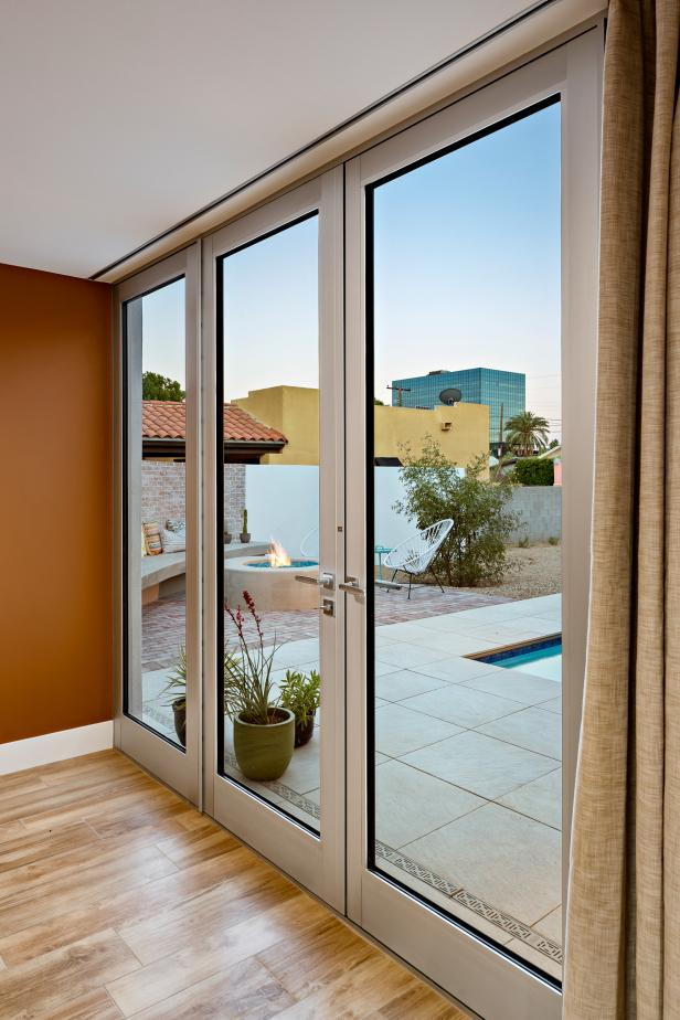 Indoor-Outdoor Metal Frame Glass Doors