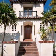 Entrance To Spanish Colonial Revival Home