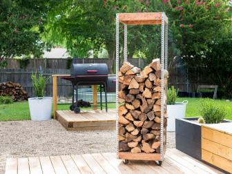 Industrial Log Rack