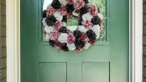 DIY Fall Inspired Pom-Pom Wreath