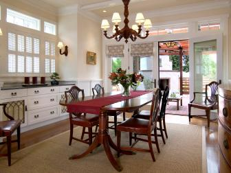 Traditional Dining Room With Elegant Neutral Palette