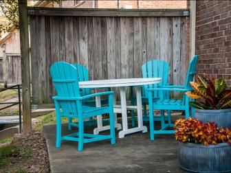 Colorful Patio After Makeover