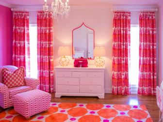 Vivid Pink and Orange Girl's Nursery