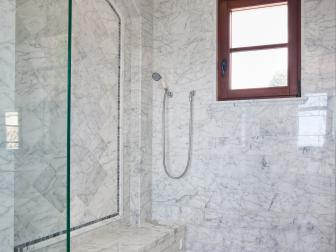 Sophisticated Master Bathroom With Walk-in Shower