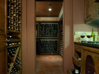 Rustic yet Sophisticated Wine Cellar