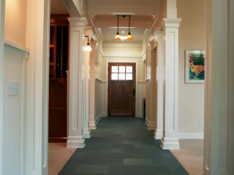 Dramatic Entryway and Hall With Craftsman Style