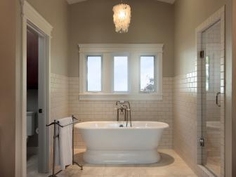Neutral Master Bathroom With Soaking Tub