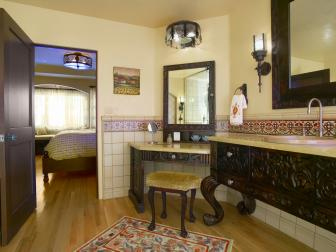 Master Bathroom Evokes Spanish Styles
