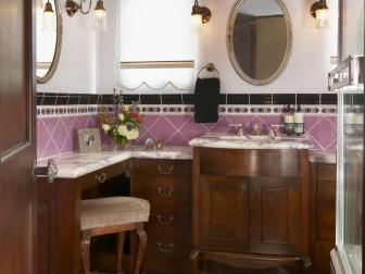 Classic Guest Bathroom is Feminine, Charming