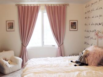 Pink Curtains in Little Girl's Room