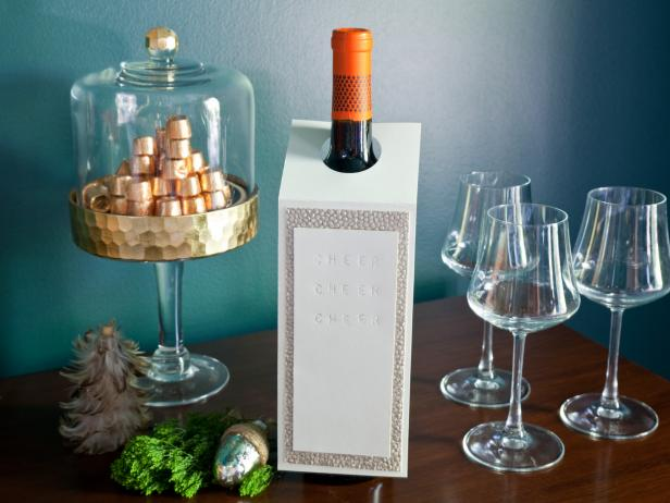 Embossed Wine Card