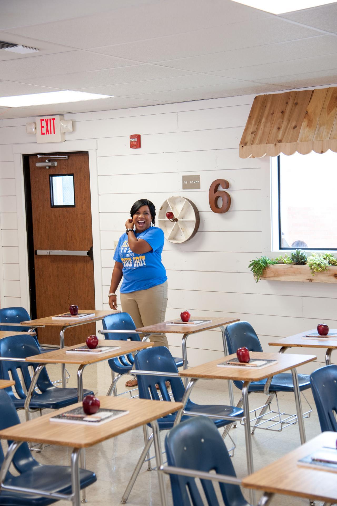 Classroom Decorating Fixer Upper Style ~ Fixer upper classroom makeover hgtv s decorating