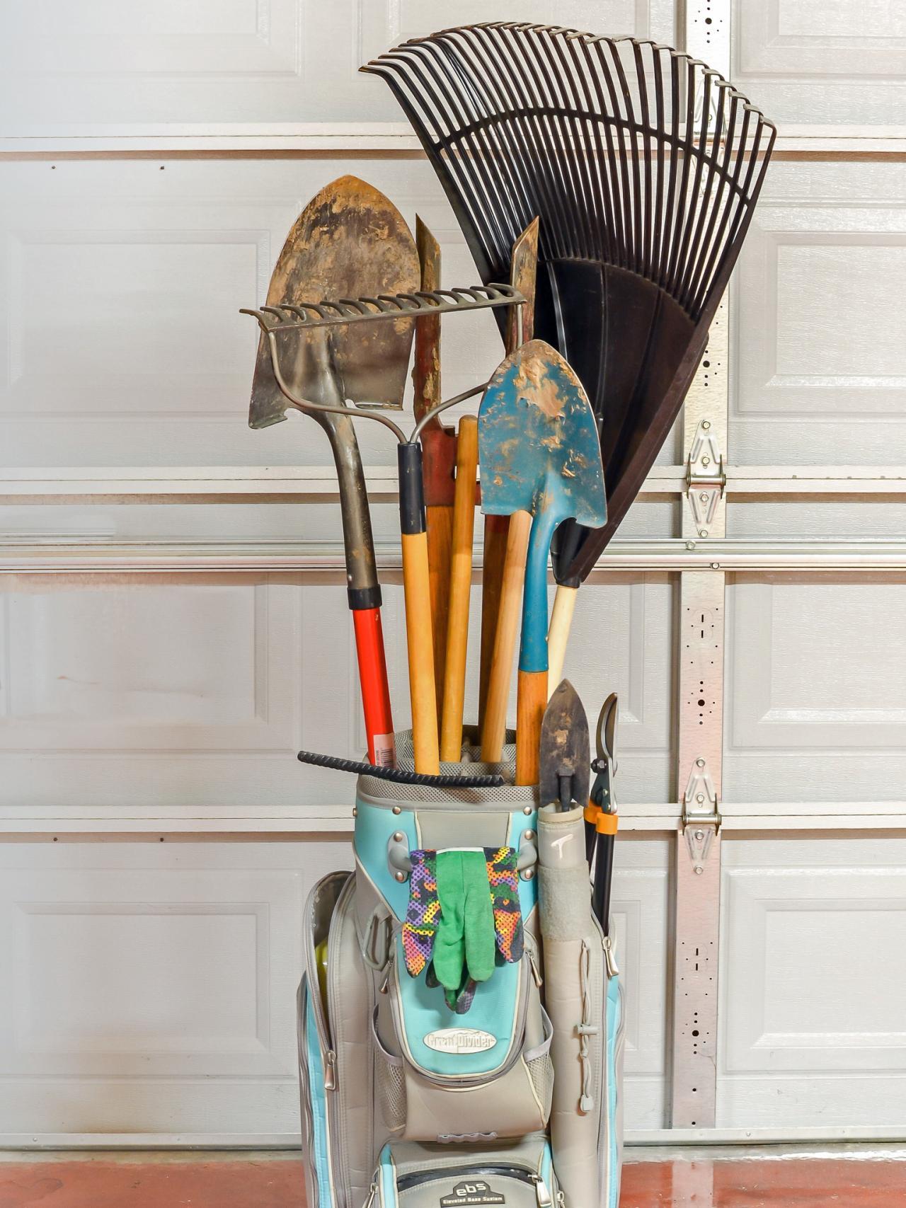 Golf Bag Garden Tool Holder