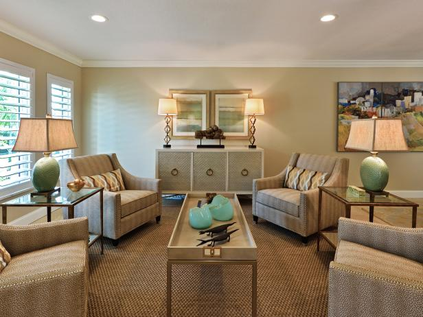 Comfortable Living Room is Elegant, Transitional