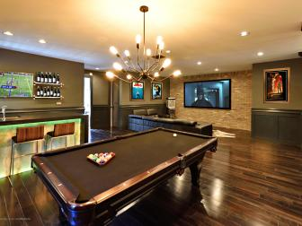 Contemporary Game Room is Perfect for Entertaining