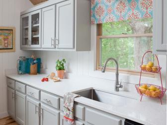 White and Gray Kitchen Makeover in Lake Home