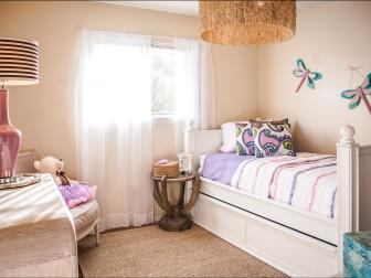 After: Posh Pink and Beige Girl's Room