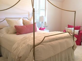 After: Pink and White Bedroom