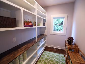 Spacious Pantry With Floor-to-Ceiling Shelving