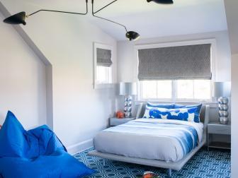 Modern, Geometric Bedroom in St. Barts Home
