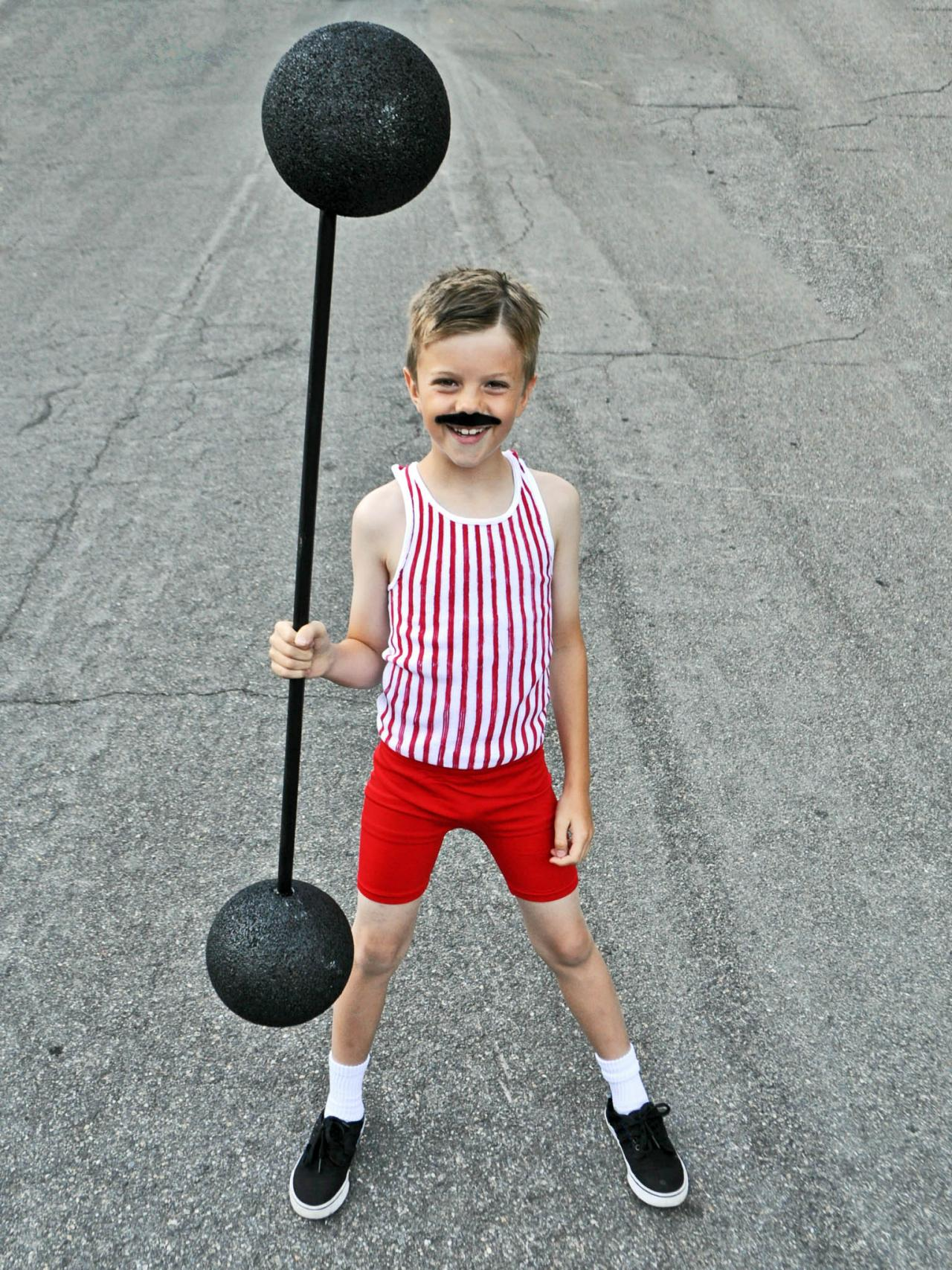 Easy Carnival Strong Man Costume for Kids
