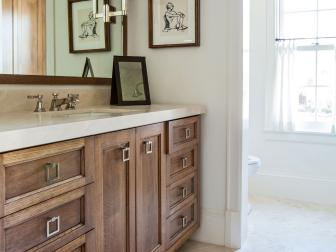 Transitional Bathroom is Warm, Sophisticated