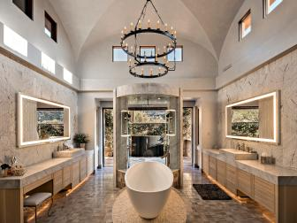 Stunning Master Bathroom With His and Her Vanities