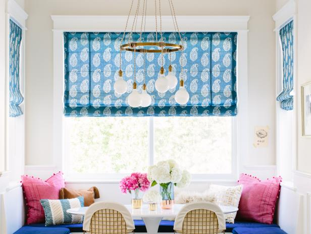 Pink and Blue Eclectic Breakfast Nook