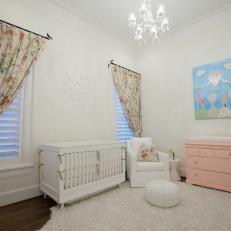 Shabby Chic Nursery With Pink Dresser