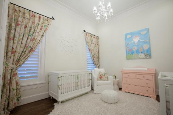 Shabby Chic Nursery With Pink Dresser