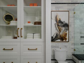 Elegant Master Bathroom With Built-In Storage
