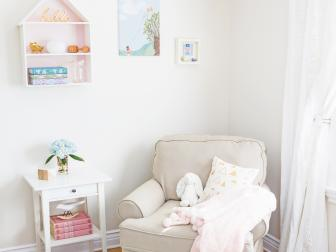 Light and Airy Nursery With Comfy Rocker
