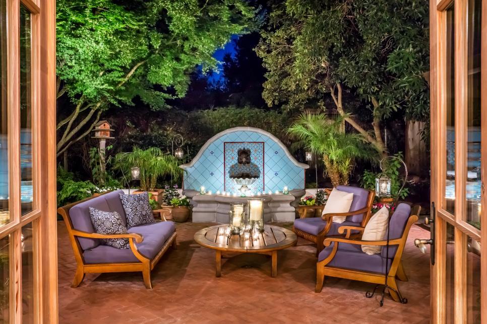 Romantic mediterranean style patio 2017 hgtv - Outdoor patio design ideas ...