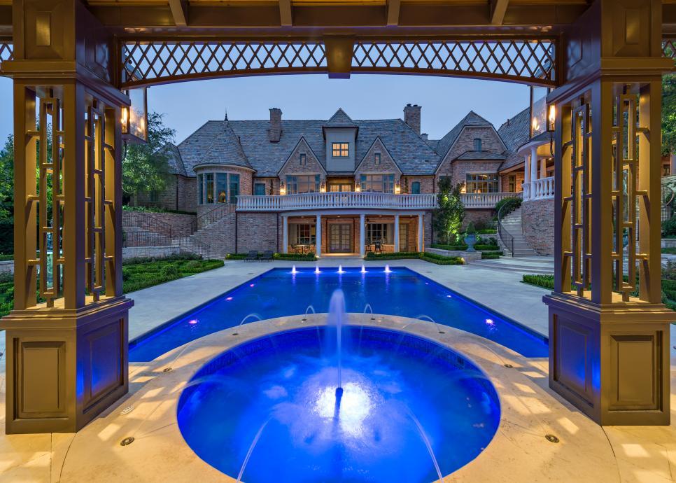 Elegant Backyard Includes Custom Cabana And Formal Gardens 2017 Hgtv