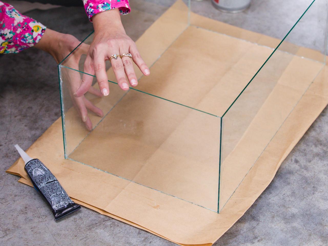 DIY Tabletop Fire Pit: Finish Glass Box