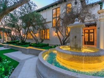 Beautiful Courtyard Fountain